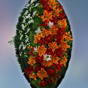 Венок из искуственных цветов элит. 110см-180см №28