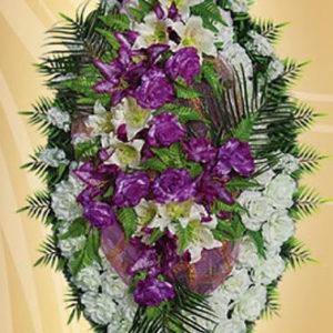 Венок из искуственных цветов элит. 110см-180см №23