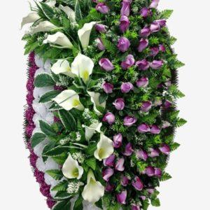 венок на похорон из живых цветов