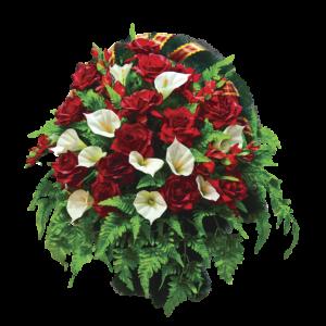 Искусственные цветы в корзине №17