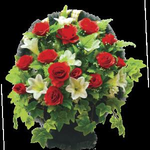 Искусственные цветы в корзине №18