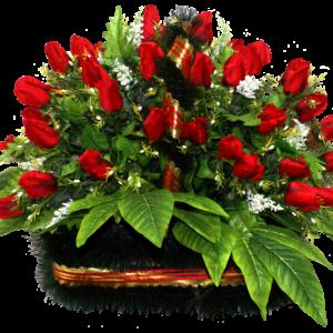 Искусственные цветы в корзине №21