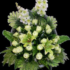 Искусственные цветы в корзине №22