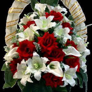 Искусственные цветы в корзине №23