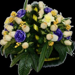 Искусственные цветы в корзине №24