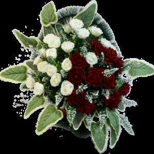 Искусственные цветы в корзине №25