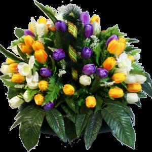 Искусственные цветы в корзине №28