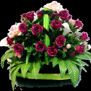 Искусственные цветы в корзине №27