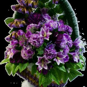 Искусственные цветы в корзине №30