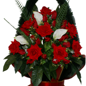 Искусственные цветы в корзине №31