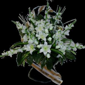Искусственные цветы в корзине №32