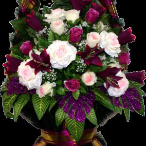 Искусственные цветы в корзине №33
