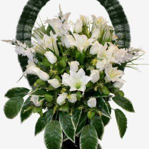Искусственные цветы в корзине №26