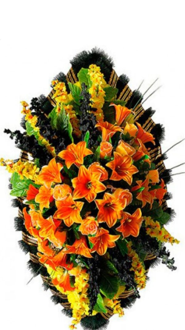 Венок из искусственных цветов элит+.120см-180см №101