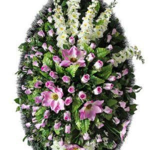 Венок из искусственных цветов элит+.120см-180см №103