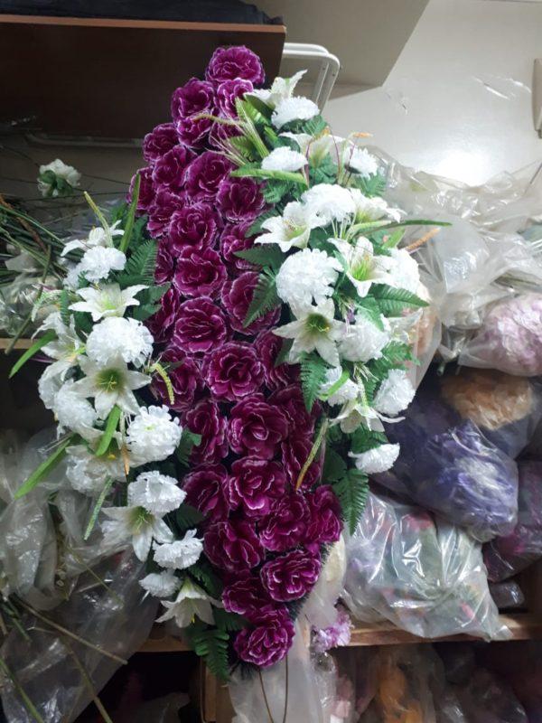 Венок из искусственных цветов элит+.120см-180см №108