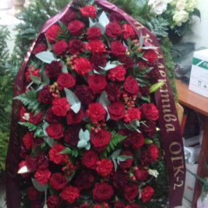 Венок из живых цветов vj - 45