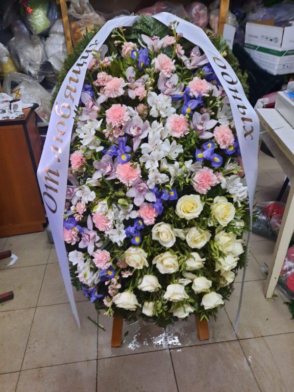 Венок из живых цветов vj - 47