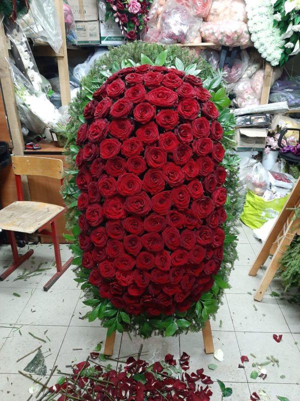 Венок из живых цветов vj - 51