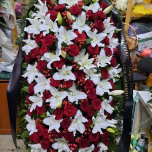 Венок из живых цветов vj - 52 VIP наполнение
