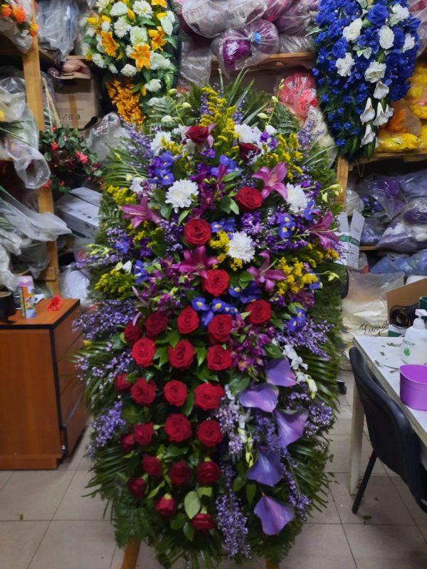 Венок из живых цветов vj - 57