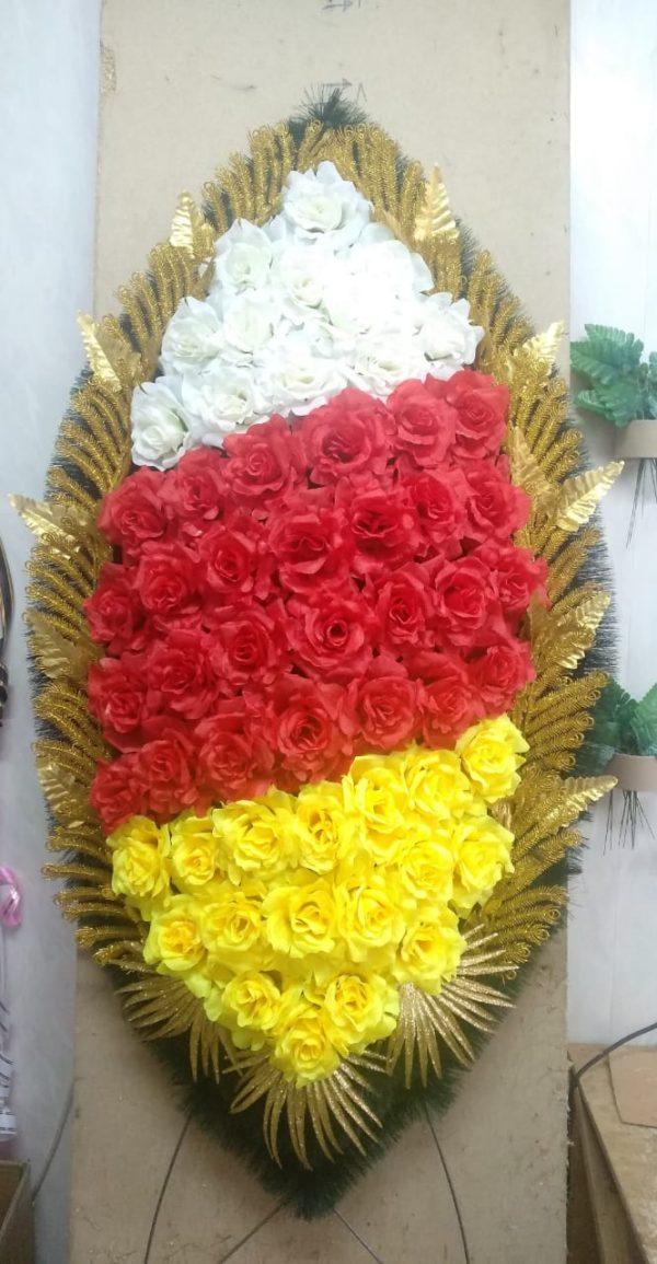 Венок из искусственных цветов элит+.120см-180см №109