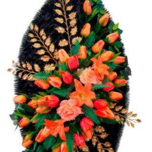 Венок из искусственных цветов элит+.120см-180см №99
